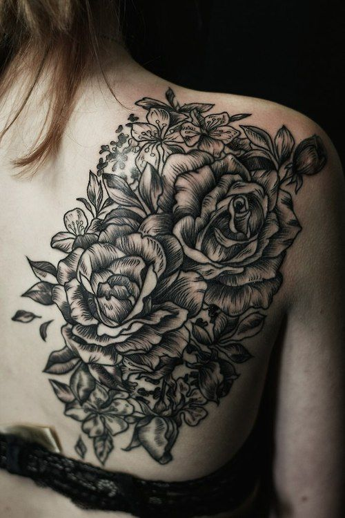 http://tattoo-ideas.us/wp-content/uploads/2014/09/Black-Roses-Back-Tattoo.jpg Black Roses Back Tattoo #BackTattoo, #BackTattooIdeas, #FloralTattoo, #FlowerInk, #InkedBack, #RosesTattoo