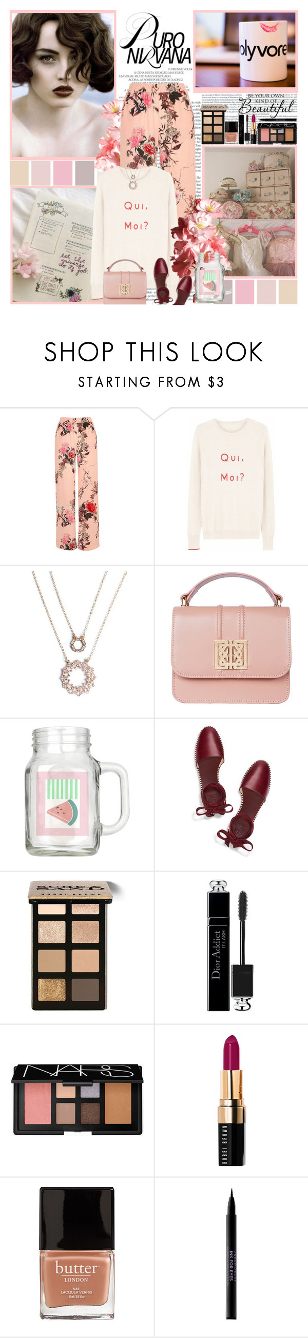 """""""Polyvore Fix"""" by molly2222 ❤ liked on Polyvore featuring River Island, Ille De Cocos, Tory Burch, Bobbi Brown Cosmetics, Christian Dior, NARS Cosmetics, Butter London and Urban Decay"""