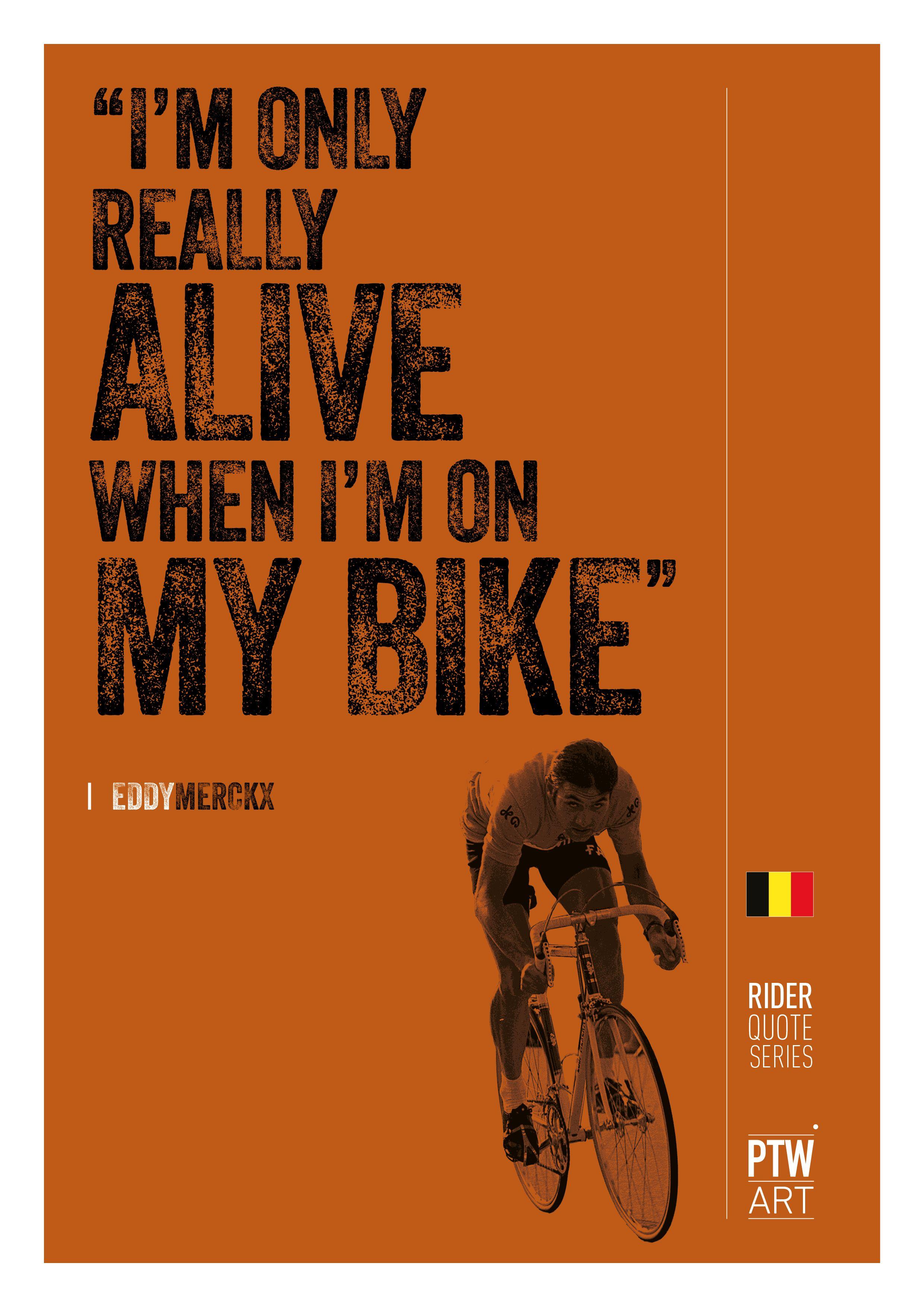 Cycling Art, I am only alive, Eddy Merckx A4 print | Cycling