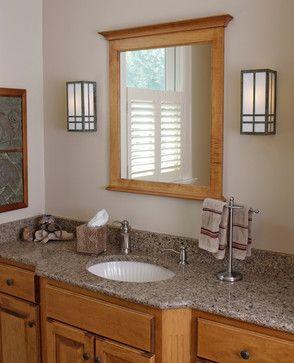 Frame Around Mirror Prairie Style Bathroom Lighting