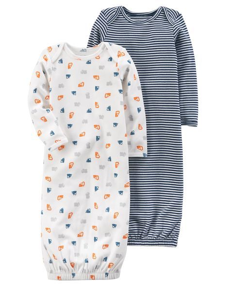 08b543c46 Baby Boy 2-Pack Certified Organic Sleep Gowns from Carters.com. Shop  clothing & accessories from a trusted name in kids, toddlers, and baby  clothes.