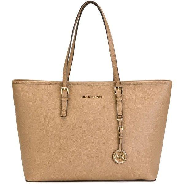 179dd169a0 Sacs À Main Bruns · Tendances · Michael Michael Kors Jet Set Travel Medium  Shopping Bag (€255) ❤ liked on