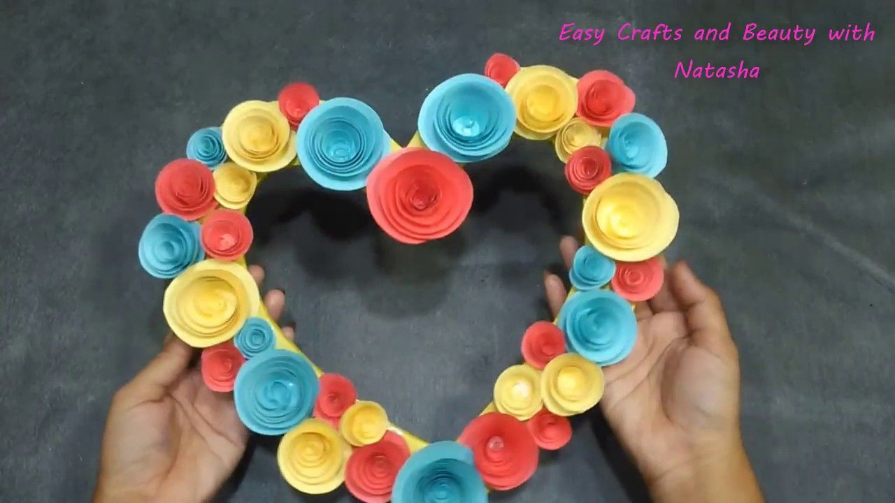 Love Making With Paper Using Flower Easy Crafts And Beauty How
