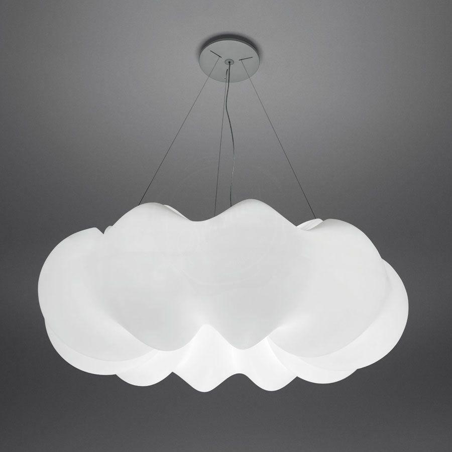 Nuboli Large White Pendant By Artemide Lighting Stardust Bulb
