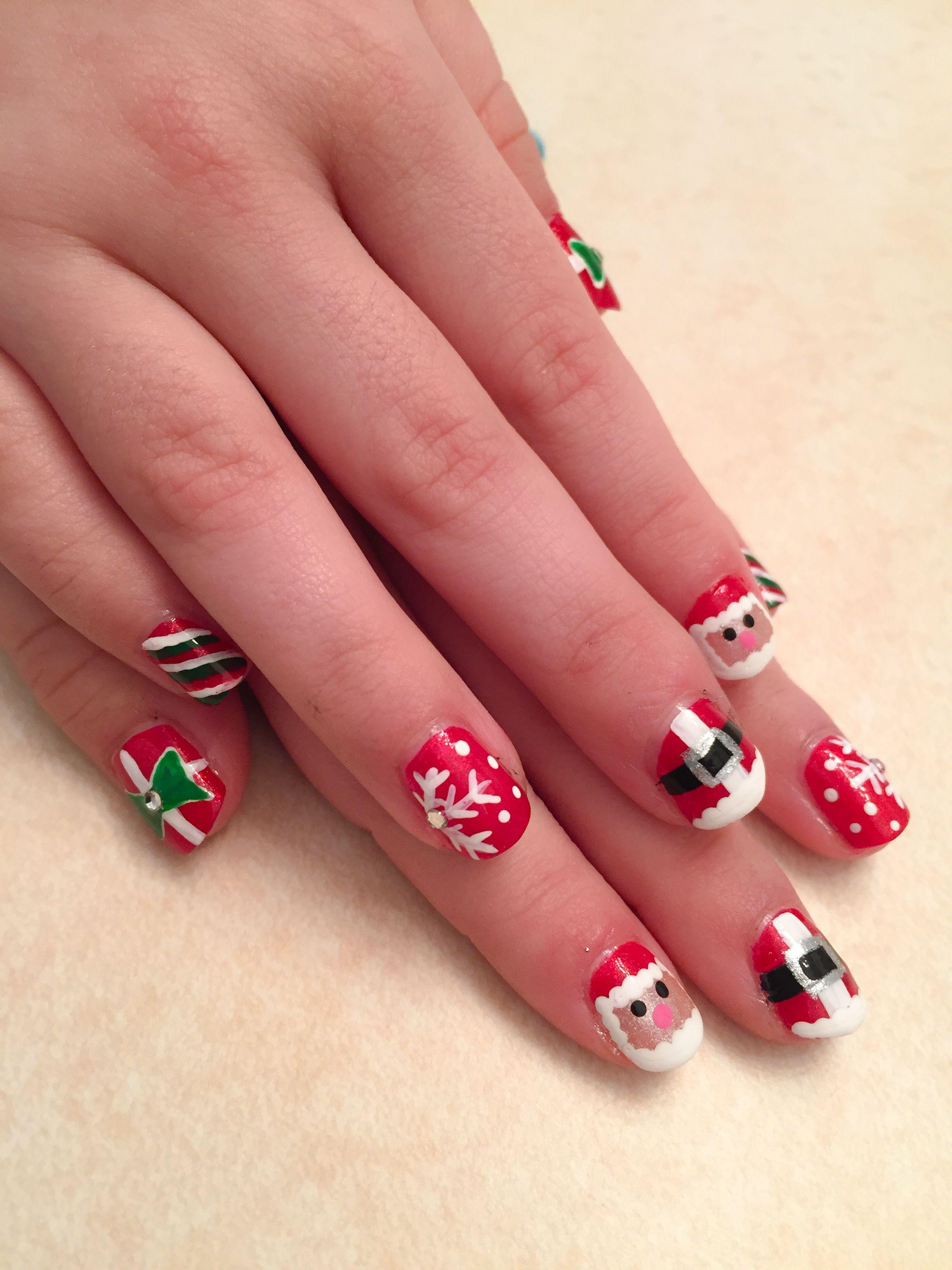 Christmas nails kids 2016 | Nails by me 4 u | Pinterest