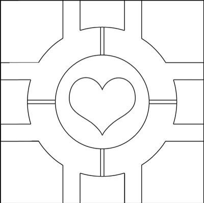 Portal Companion Cube Template  Crafting Ideas