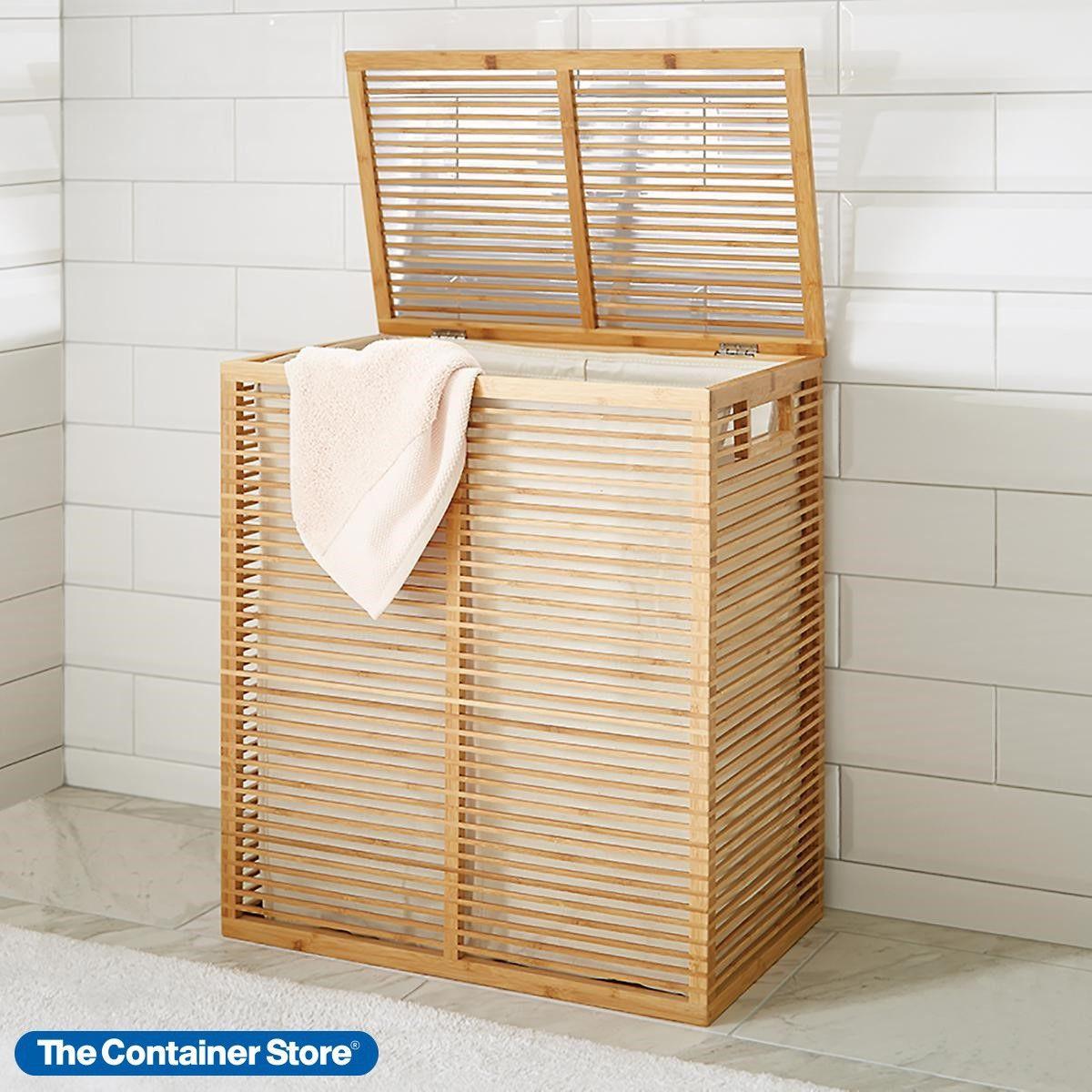 Zen Divided Bamboo Hamper In 2020 Laundry Hamper Vintage