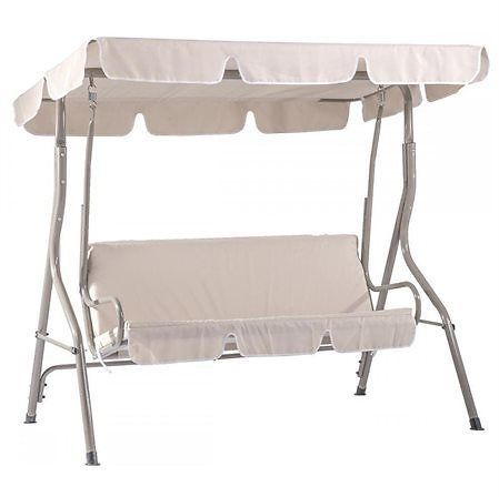 2-Person Outdoor Canopy Swing (Beige)