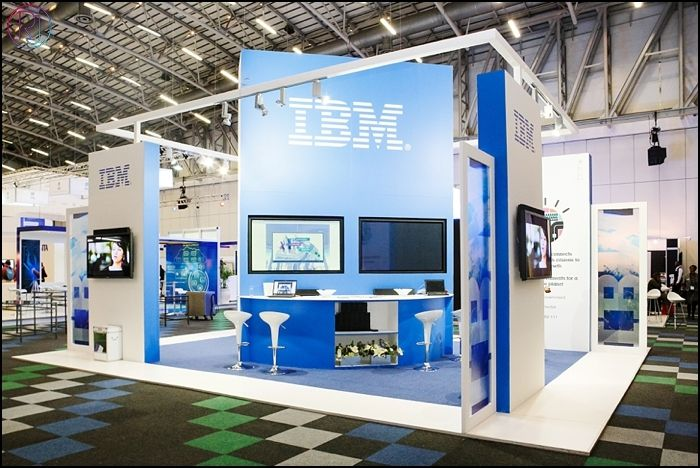 The organiser's flooring shall remain absolutely timeless with this exhibition stand in the room! Designed, project managed and produced by the SSQuad: IBM @ Govtech 2013