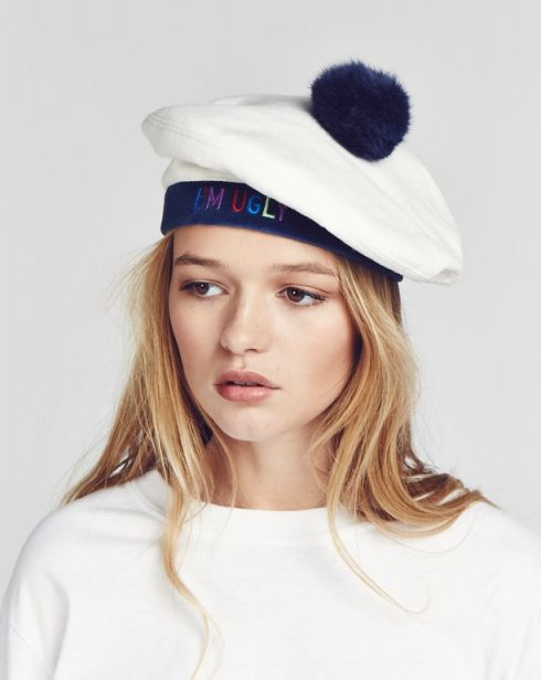 8dbb18a81512e Aymmy in the Batty Girls I m Ugly White Beret