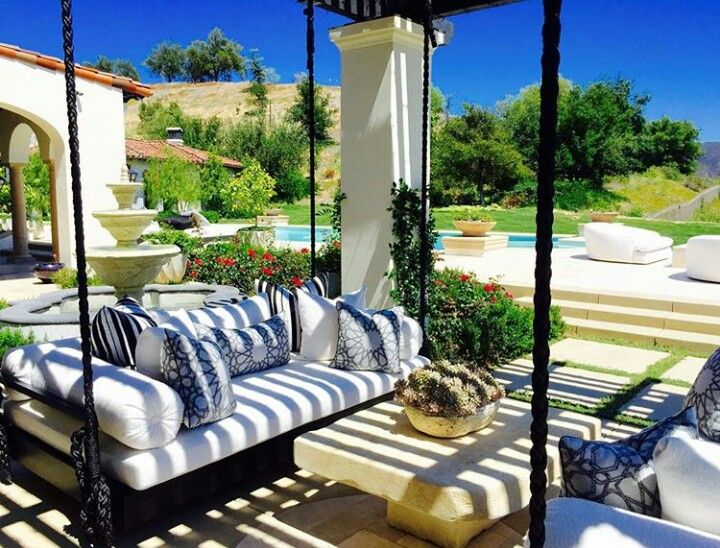 Khloe kardashian 39 s swing beds our dream home pinterest - Kourtney kardashian kitchen chairs ...