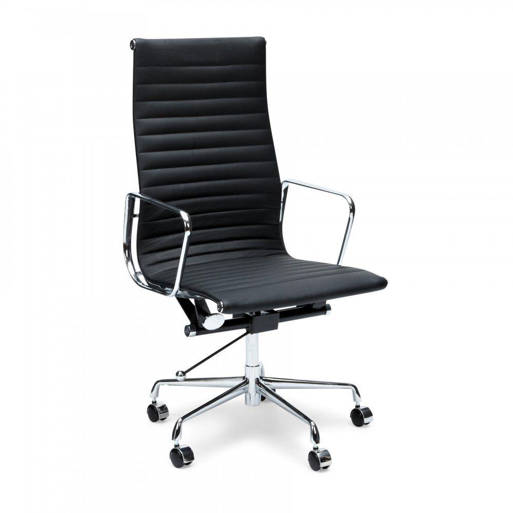 Iconic Designs Chaise De Bureau Cotelee Avec Dossier Haut Noire Chair Charles Eames Furniture