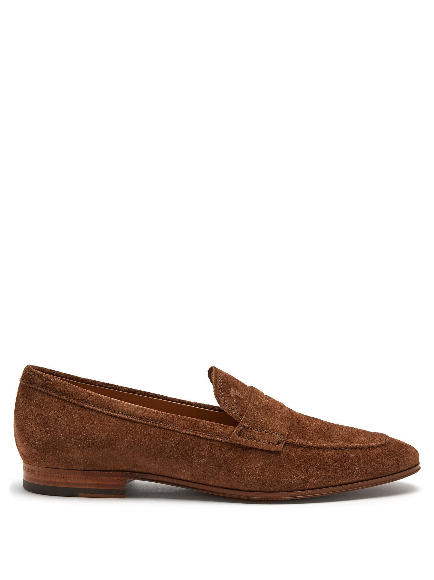 5a95408e2d7 Click here to buy Tod s Round-toe suede penny loafers at MATCHESFASHION.COM