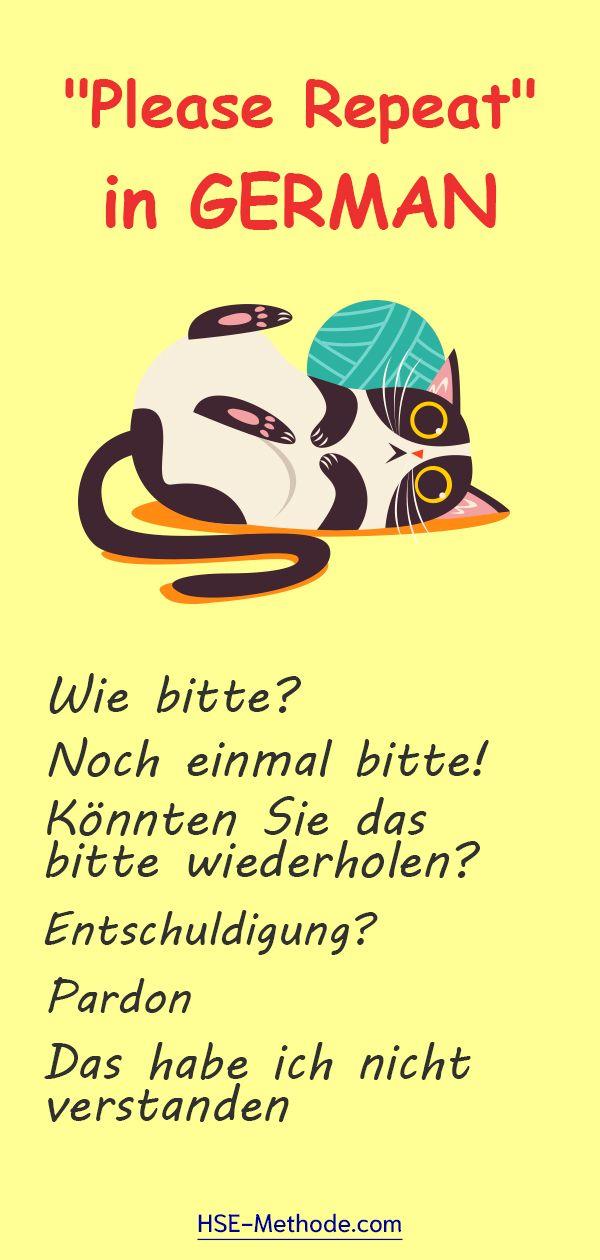 Didn't get it in GERMAN Deutsch lernen, Deutsch vokabeln