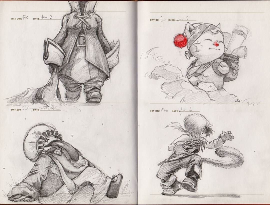 regram @aya_kun Final Fantasy IX fanarts  So far Zidane and