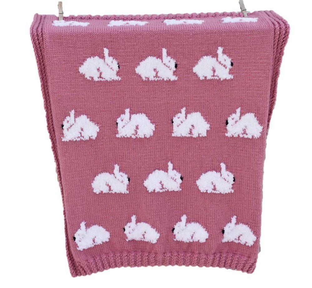 Fluffy Bunnies Blanket Knitting pattern by iKnitDesigns ...