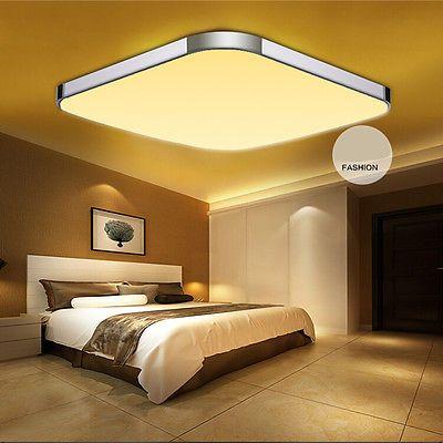 65x65cm 48w LED Deckenleuchte Panel Kche Deckenlampe Wohnzimmer Warmweiss Aufbau EEK Asparen25