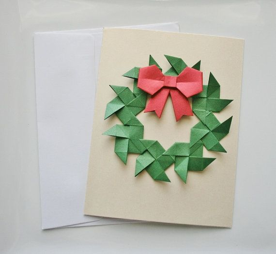 Christmas cardsorigami greeting cards set of di thepaperdecor christmas cardsorigami greeting cards set of di thepaperdecor m4hsunfo