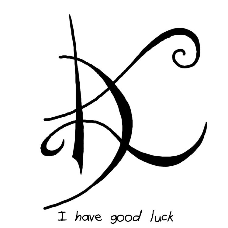 """How To Have Good Luck today is a good day"""" sigil """"i have good luck"""" sigil witchysigils"""