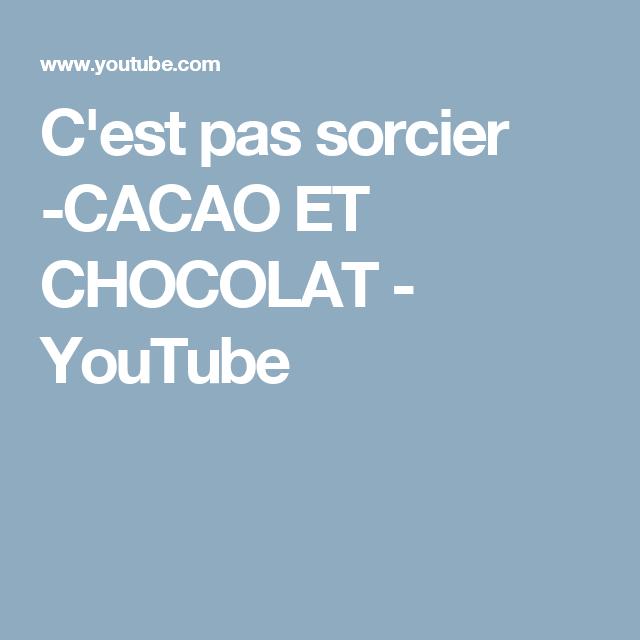 C'est pas sorcier -CACAO ET CHOCOLAT - YouTube