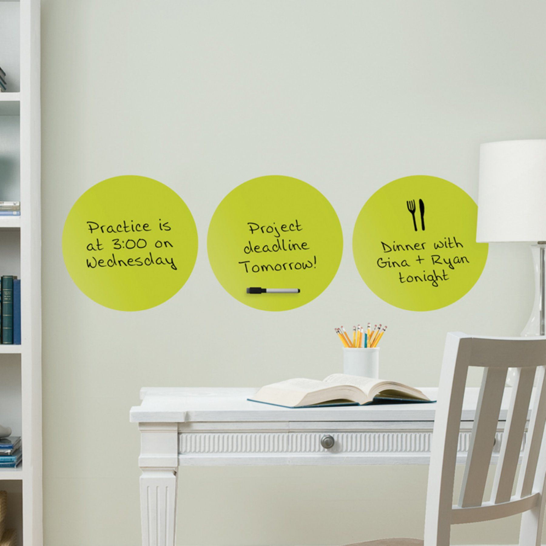 Wall Pops Samara 3 Dots Dry Erase Wall Decals Wpe0830 Dry