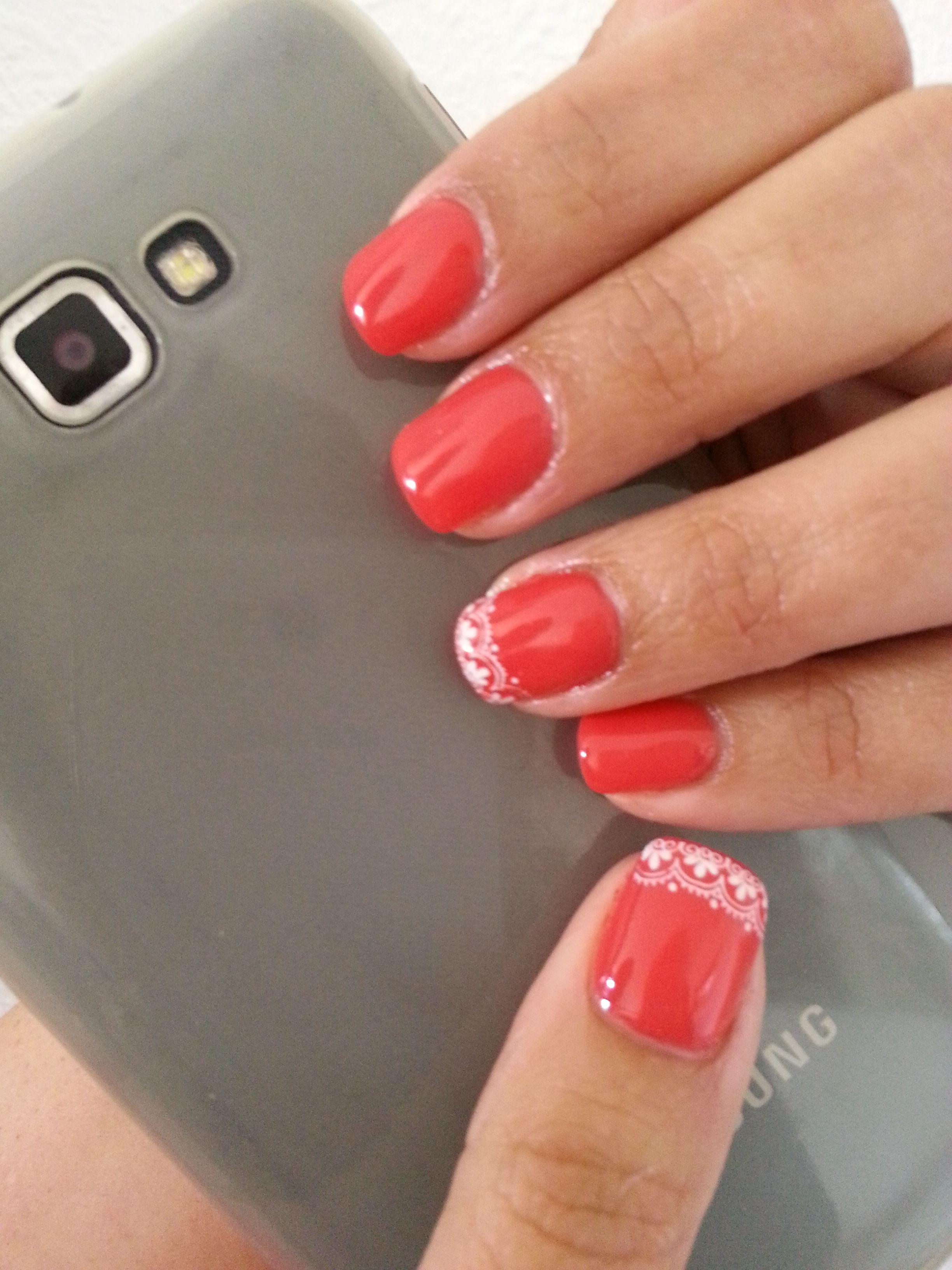 Esmalte permanente en coral #nails #nailart #nailpolish #uñas ...
