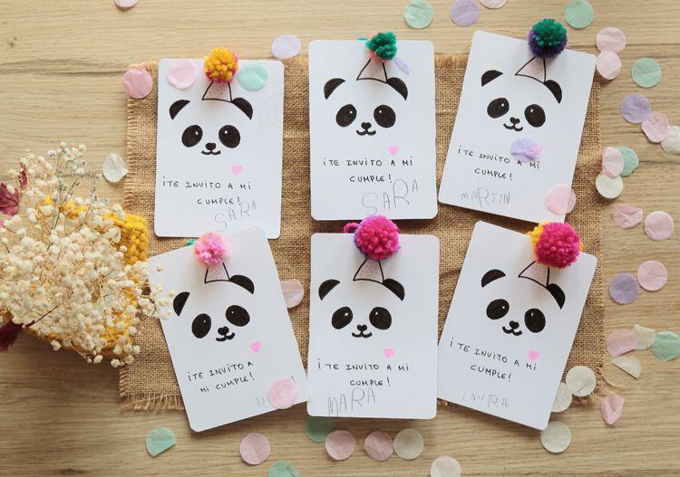 Invitaciones de cumplea os fiesta panda cosas de ni os - Ideas para hacer tarjetas de cumpleanos ...