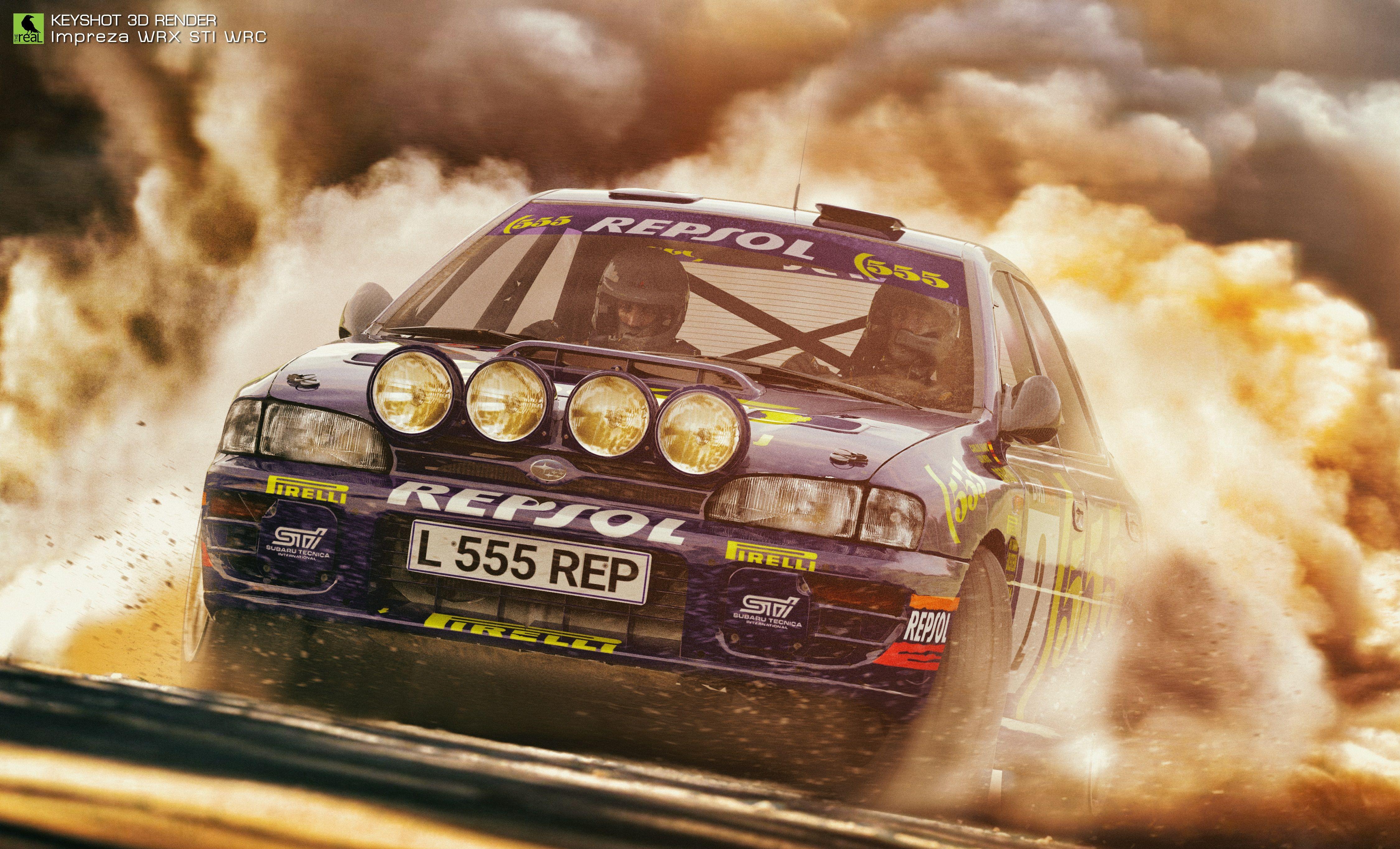 Old School Rally - Subaru WRX STI 555 WRC \'95 rendered in KeyShot by ...