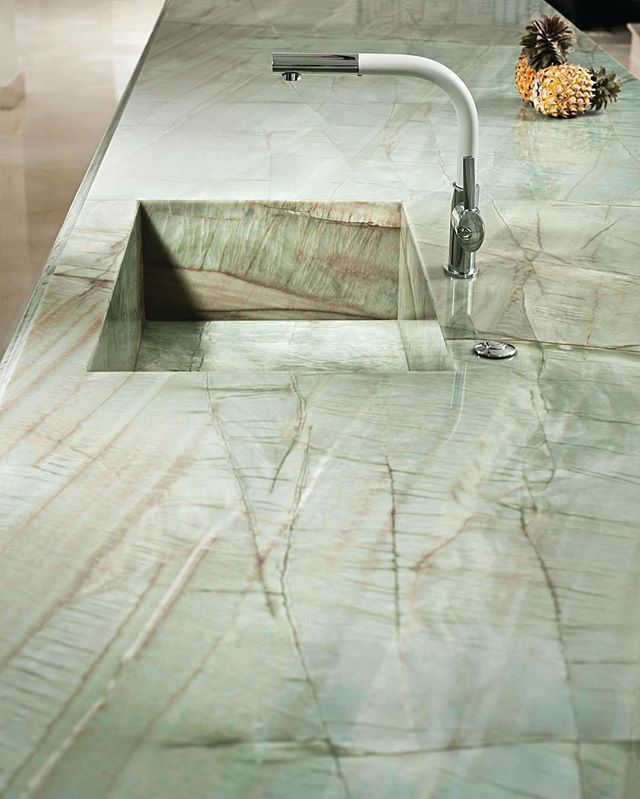 Countertop In Quartzite Aqua Natural Stone By Our Friends Of