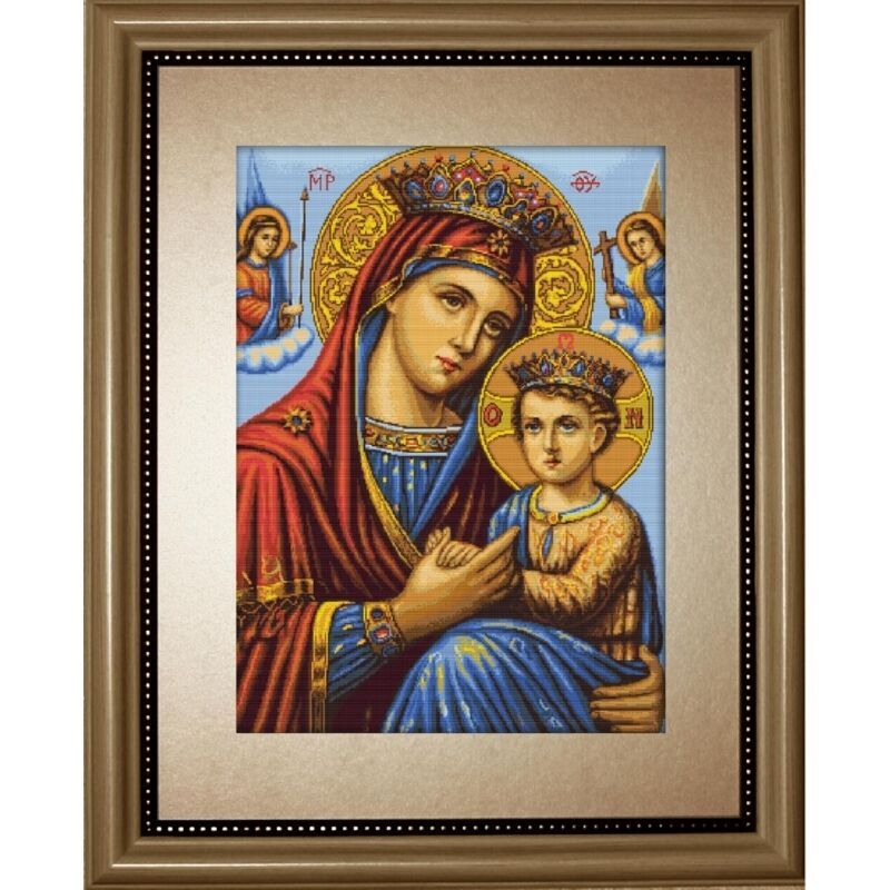 Counted Cross Stitch Kit Icon Virgin Mary Mother of God DIY Unprinted canvas