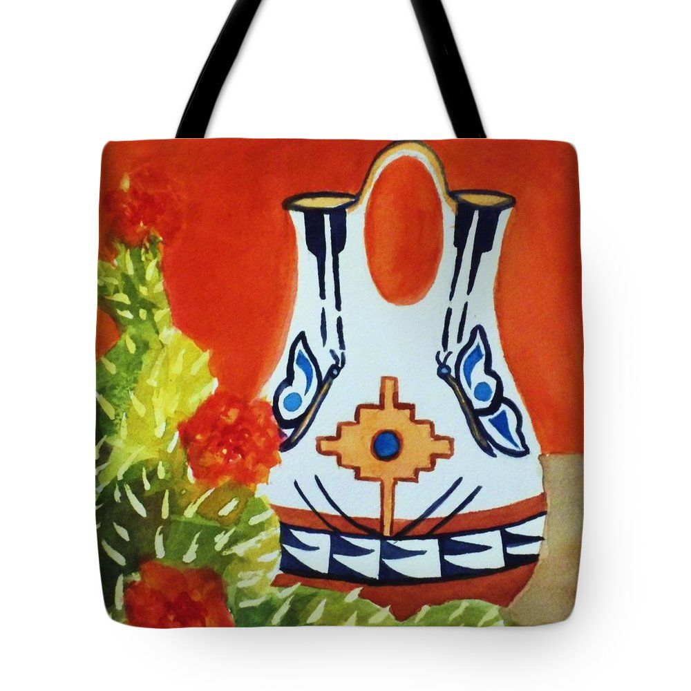 Native american wedding vase and cactus square format tote bag for native american wedding vase and cactus square format tote bag for sale by ellen levinson reviewsmspy