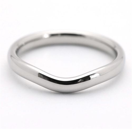 Tiffany Co Platinum Elsa Peretti 2mm Curved Wedding Band Ring