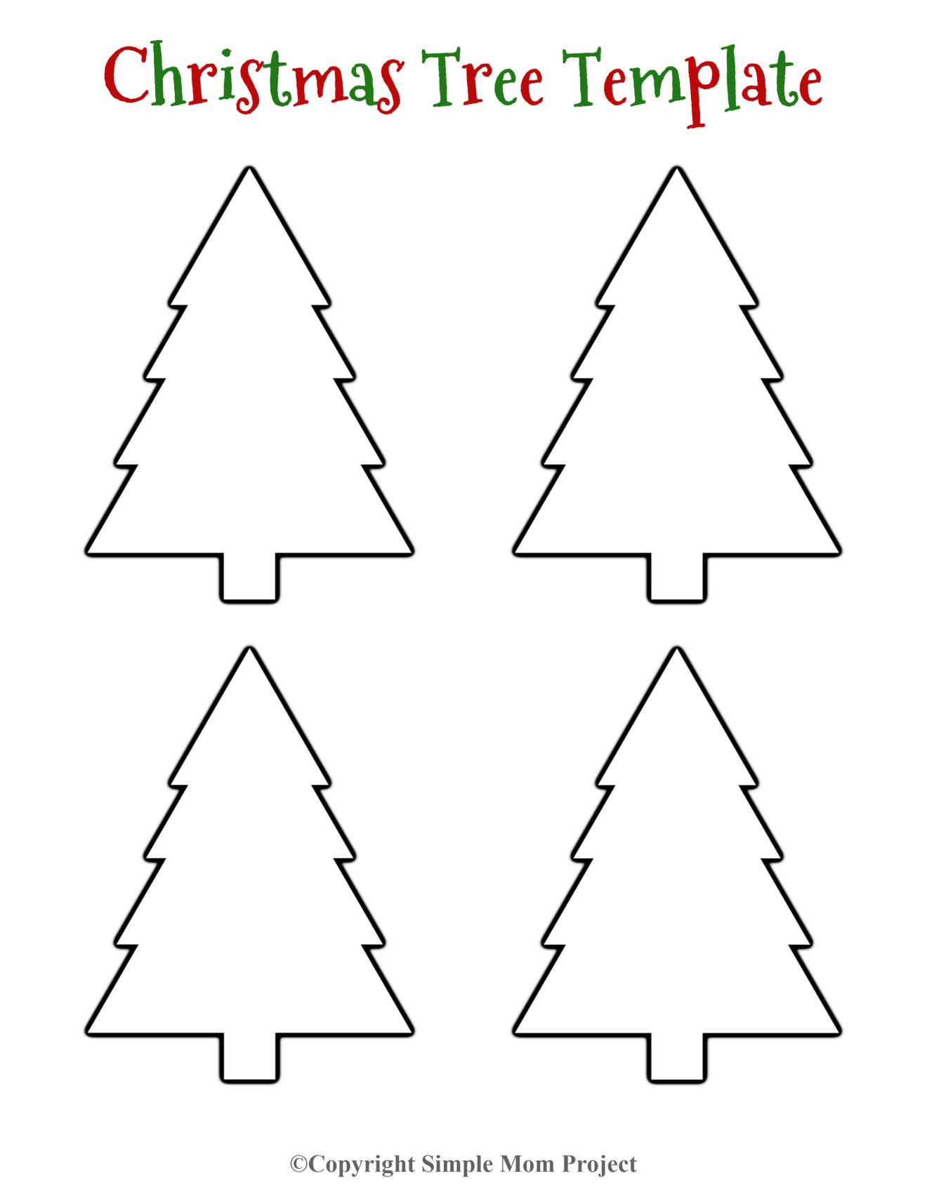 Pin On Christmas Tree Template