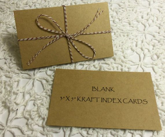 25 kraft 3x5 blank cardstock index cards recipe by thepackagehouse