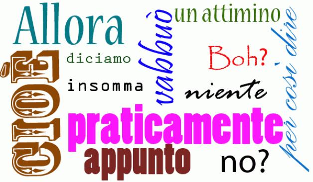Resultado de imagen para parlare italiano nube de palabras