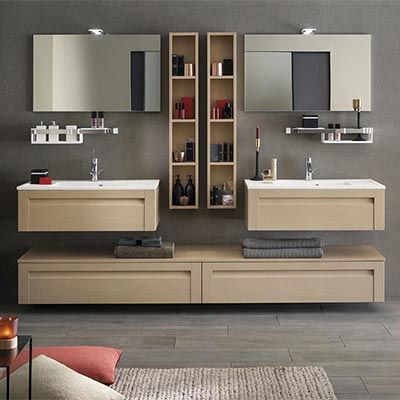 meubles salle de bains unique wood 90 cm delpha espace. Black Bedroom Furniture Sets. Home Design Ideas