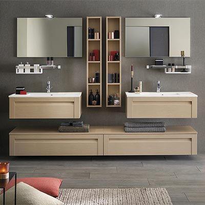 meuble salle de bain unique wood