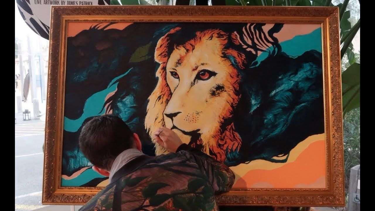 Pathera leo painting x art pinterest