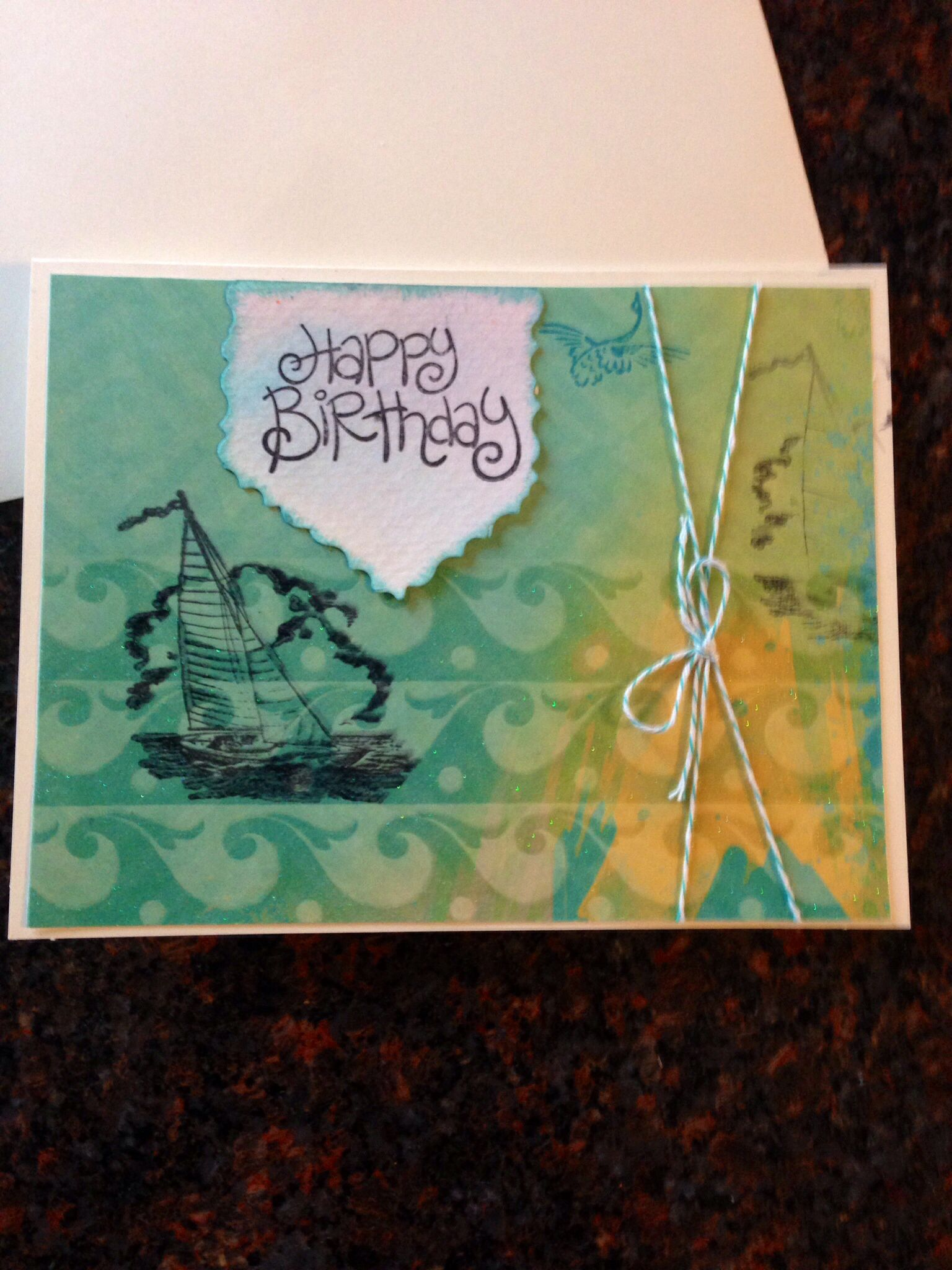 Handmade male birthday cardship rickius handmade cards