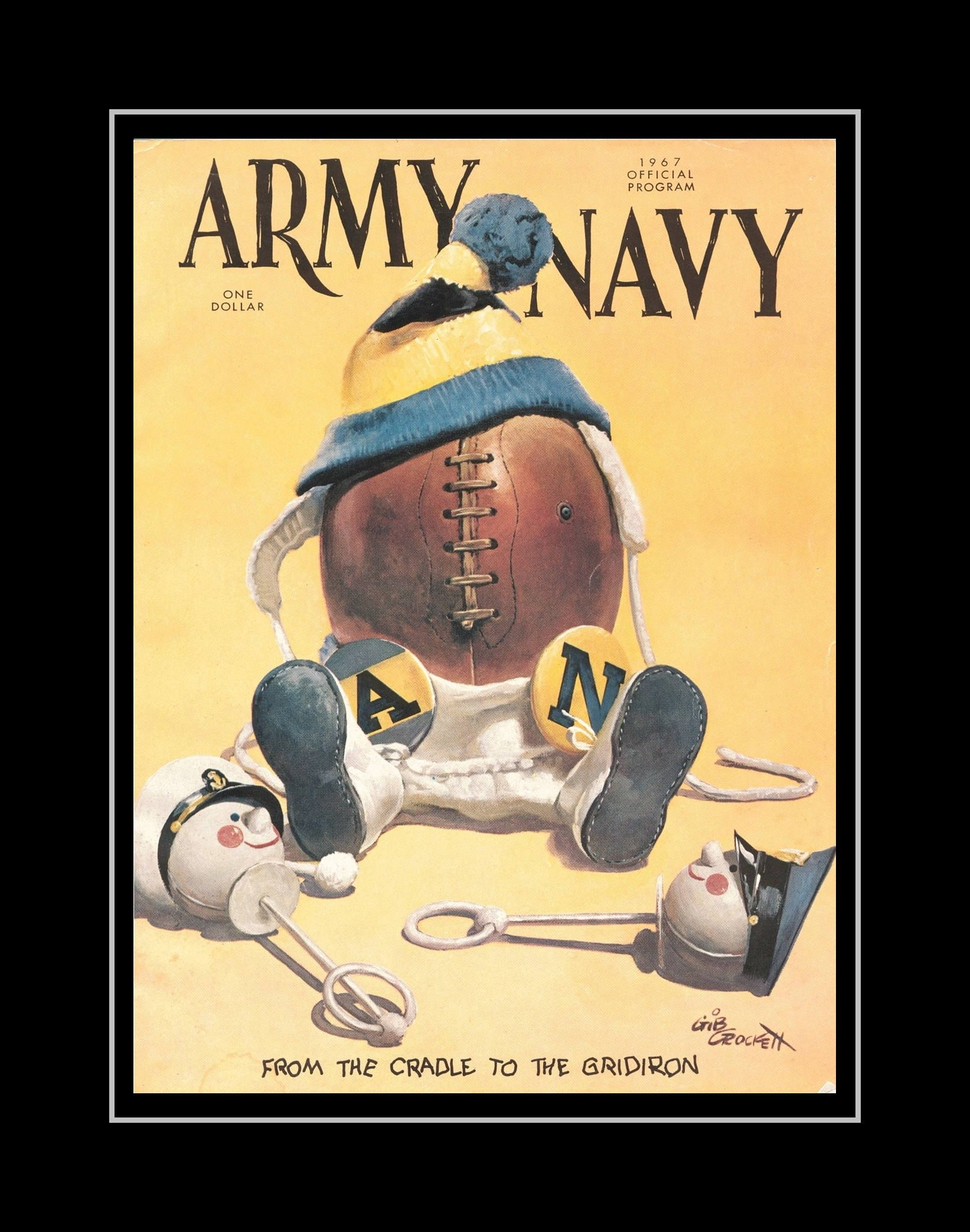 Retro 1967 Army Navy Football Poster, Gift, Military Illustration ...