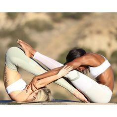 alo yoga spring 16' collection yoga  partner yoga poses