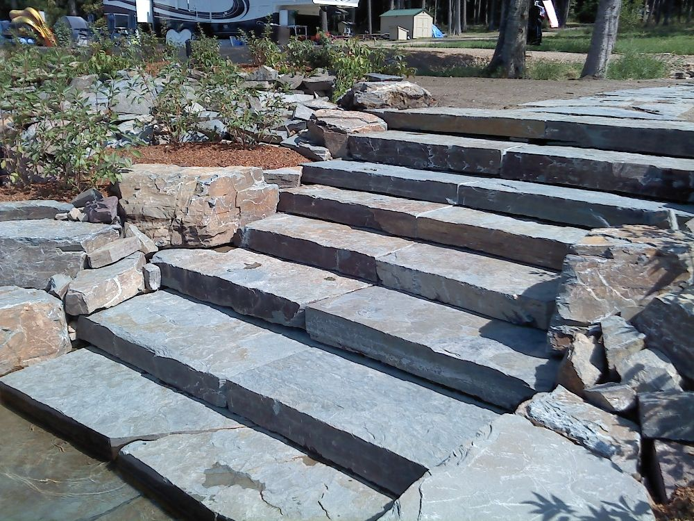 Stone Step Ideas Google Search Stone Step Outdoor Steps
