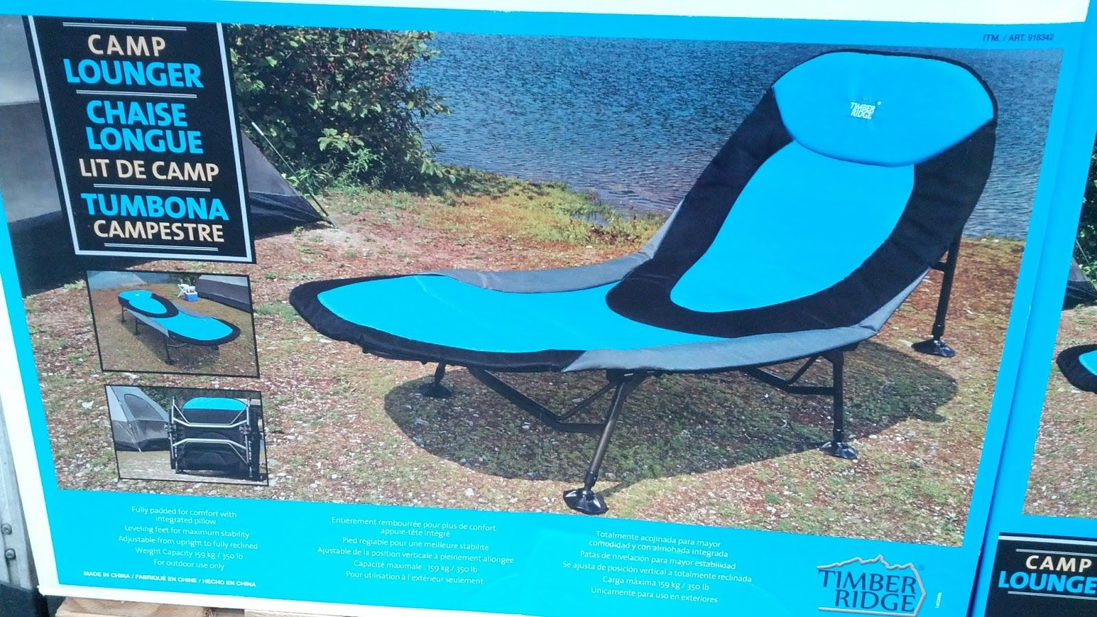 Timber Ridge Camp Lounger Chair Camping Chairs Chair Loungers