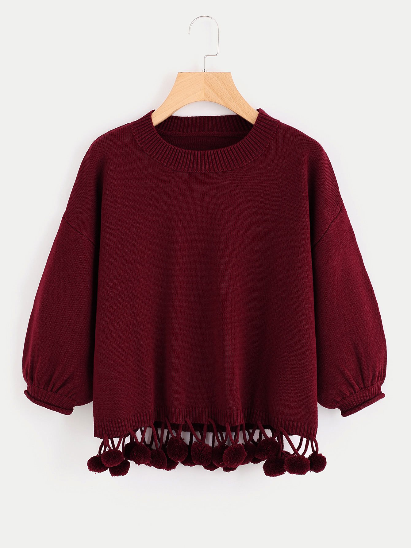 e2694996d1ad Material  100% Acrylic Color  Burgundy Pattern Type  Plain Neckline  Round  Neck Style  Casual