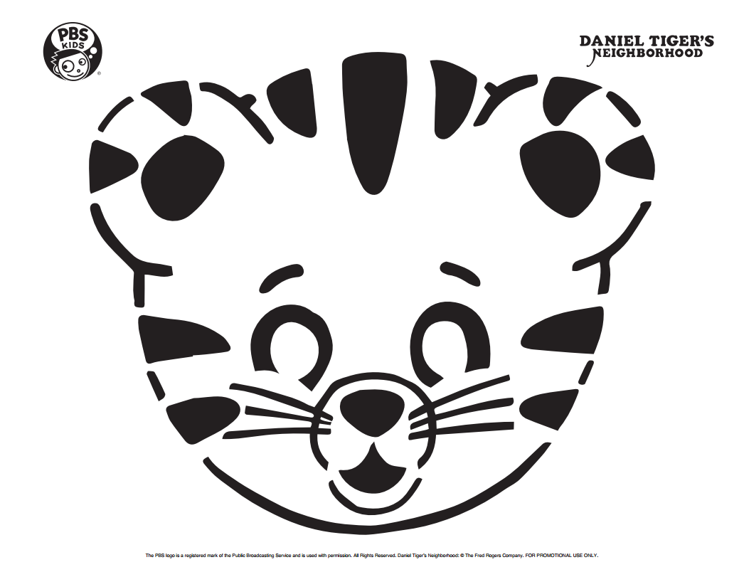 Daniel Tiger Pumpkin Carving Template . Happy Halloween! . PBS Parents