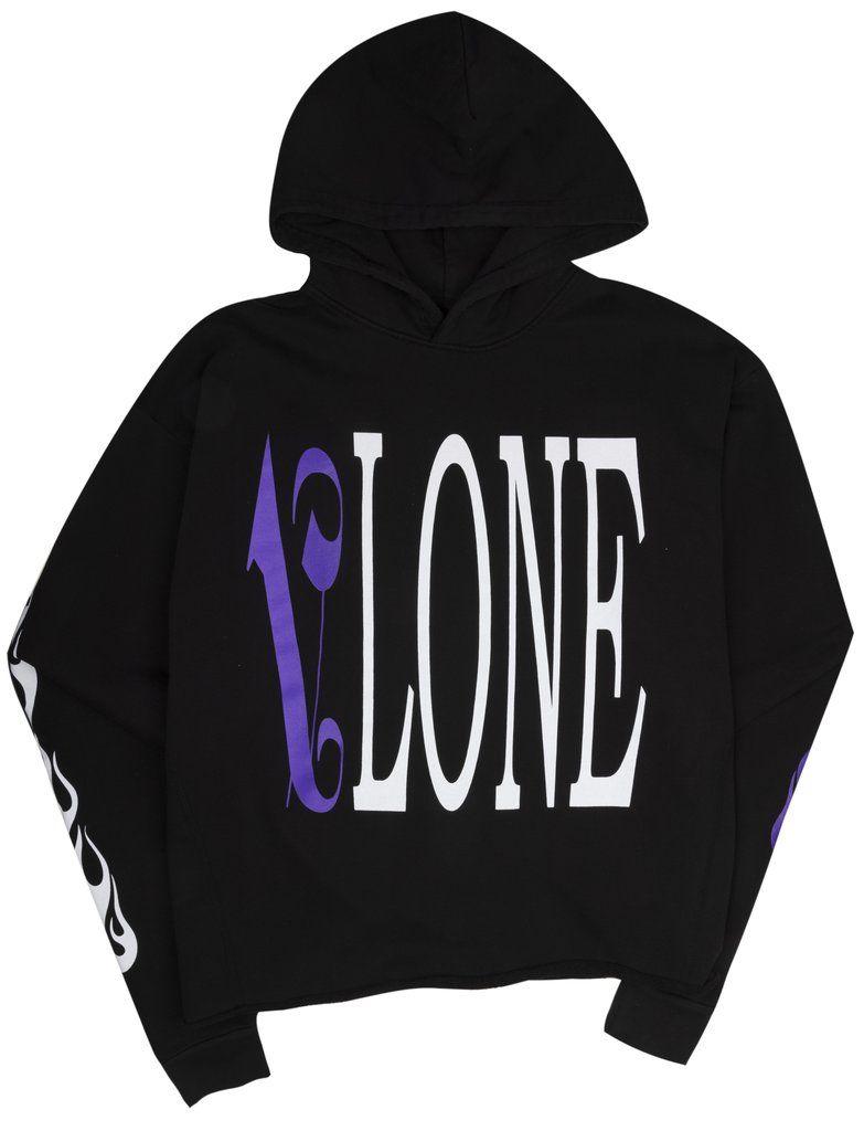Vlone Palm Angels Hoodie Black/Purple | Hoodies, Vlone hoodie, Purple hoodie
