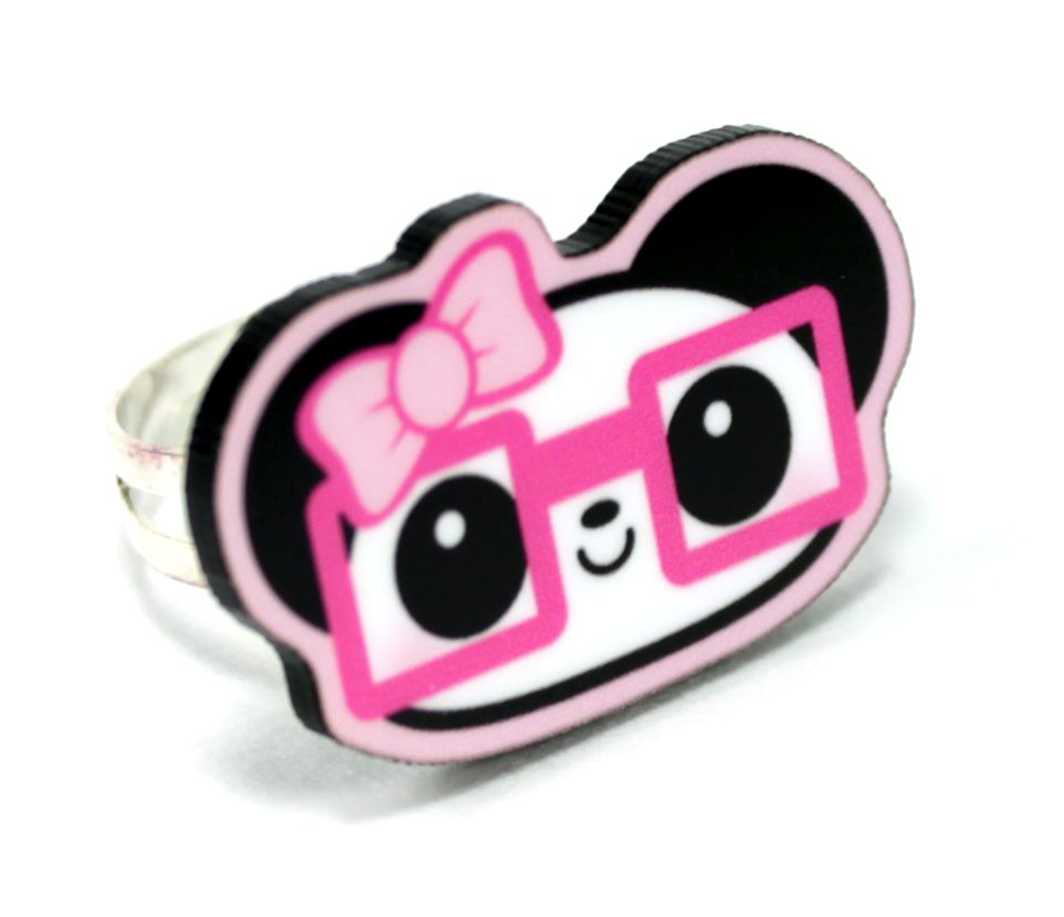 girly panda wanted to be nerdy too, so she got some cute hot pink ...