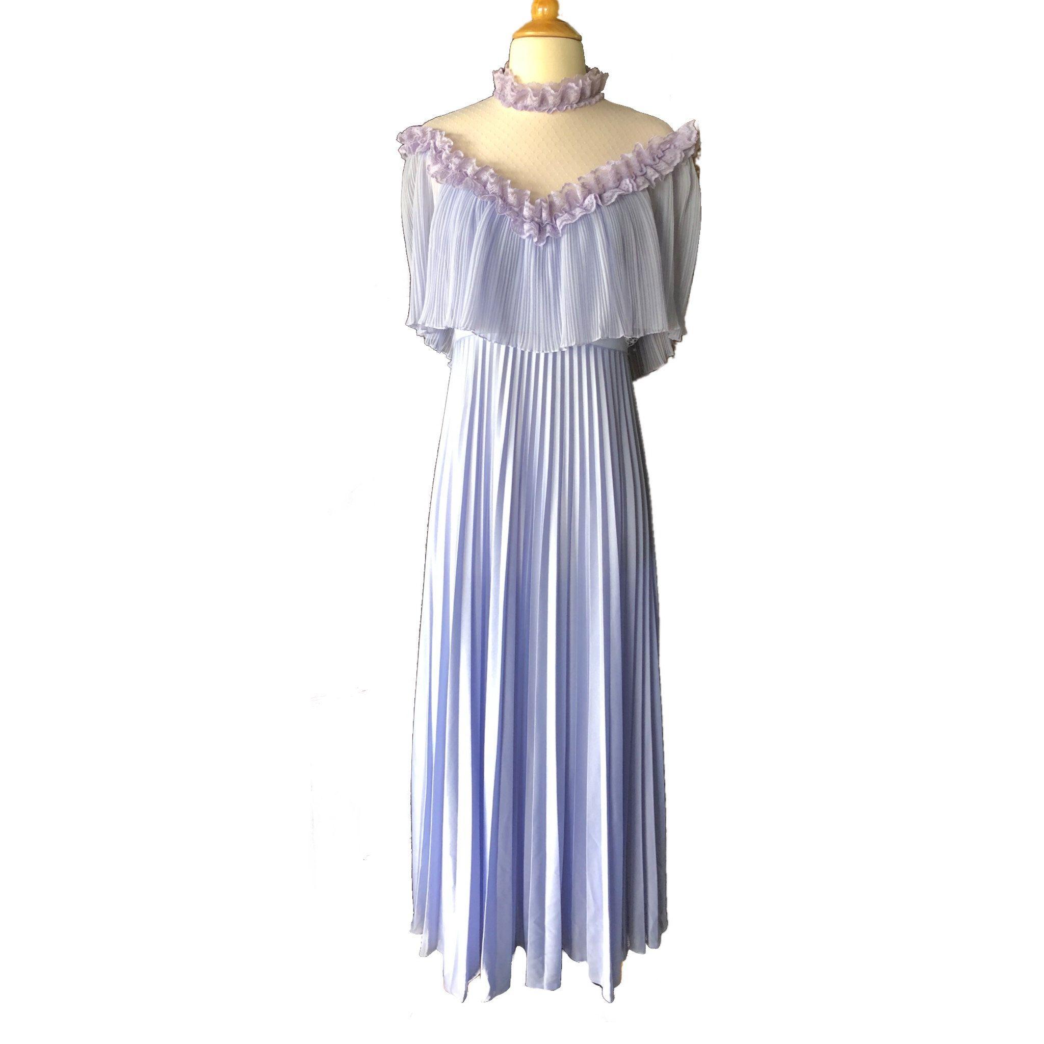Vintage s purple formal dress evening dress lavender prom