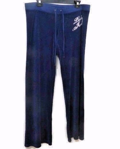 Juicy Couture Velour Pants Large Navy Blue Lady Juicy Sweat Track New   JuicyCouture  TrackSweatPants 38ba7f15c