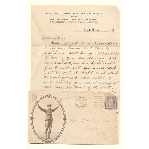WWI Letter Handwritten Antique Soldier's Love Note Apology Decorative... ($22) ❤ liked on Polyvore featuring home and home decor
